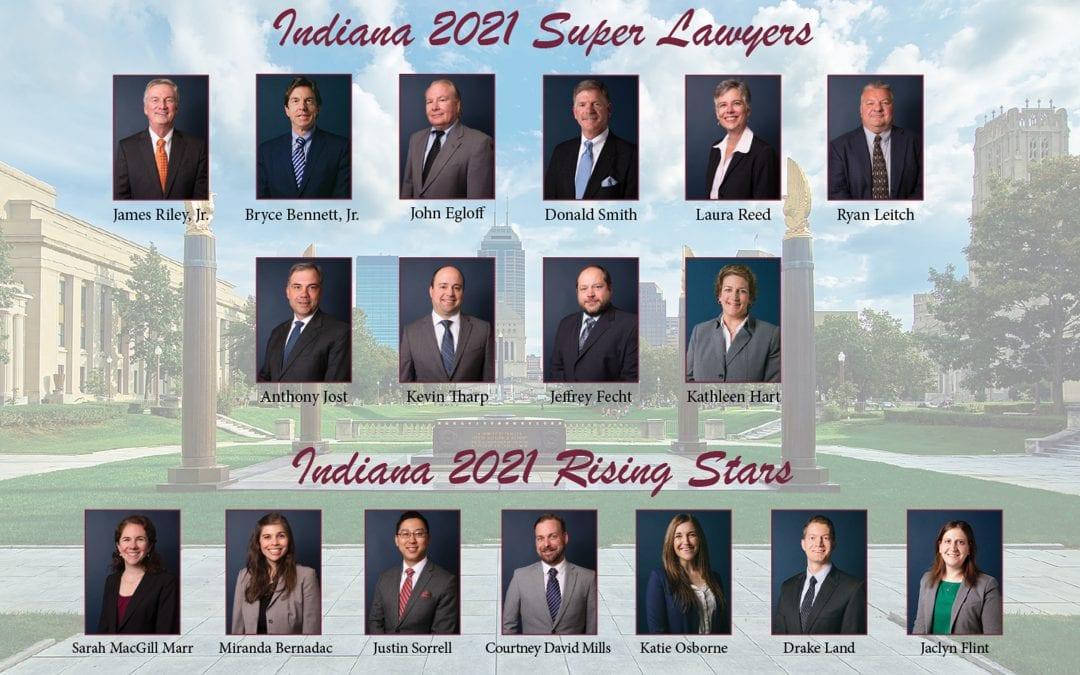 "Seventeen Riley Bennett Egloff Attorneys Named 2021""Super Lawyers"" and ""Rising Stars"""